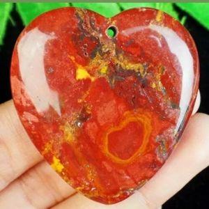 New Heart Shapped Jasper Pendant.